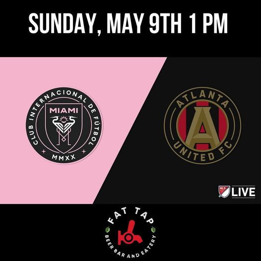 Join us this Sunday to support @intermiamicf @atlutd. Wear your local team gear